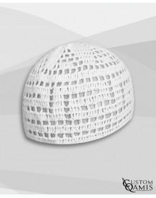 Chachia blanche haut de gamme sans élastique