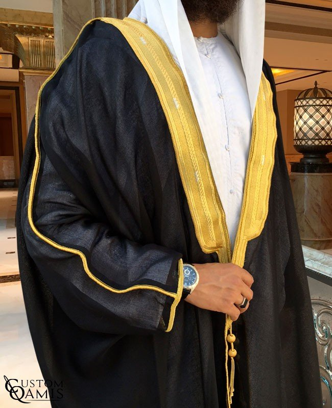 Bisht - Custom-made - Black