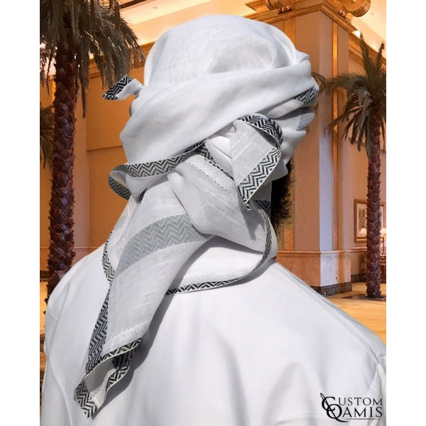 White black ghutra Style house fashion trading company uae