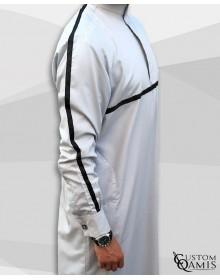 Kamees Athletic Light Gray & Black Ribbon