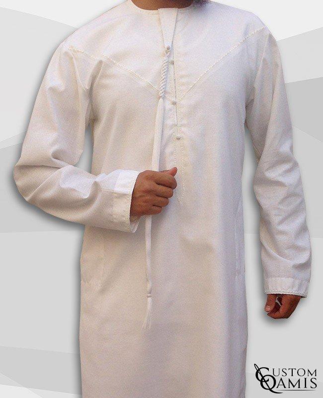 Qamis Emirati Crème