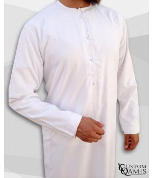 Qamis Emirati Blanc 2