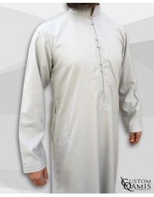 Qamis Sultan Gris Clair