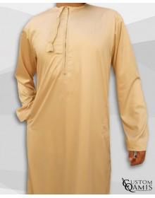 Kamees Omani Beige Satin Fabric