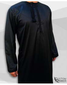 Kamees Omani Black Satin Fabric