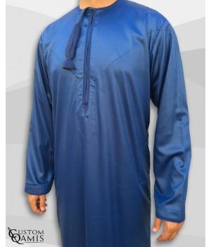Kamees Omani Royal Blue Satin Fabric