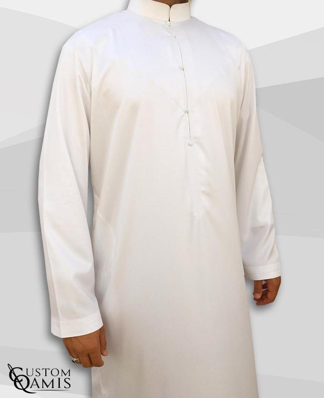 Qamis Bahraini Blanc