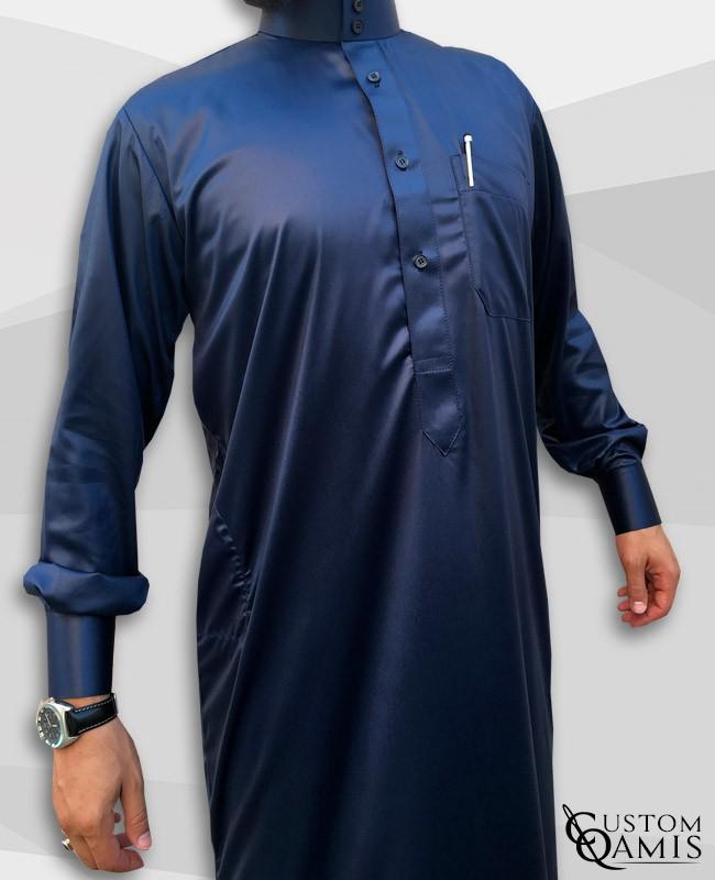 Qamis Saoudien Bleu Marine