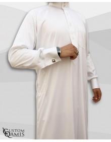 Saudi Kamees White Precious Satin Fabric