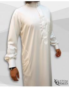 Qamis Saoudien Crème Tissu Precious