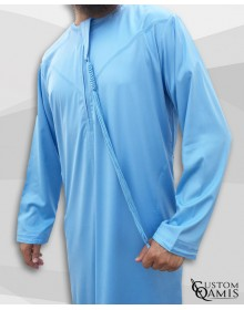 Emirati Thobe sky blue satin with zip