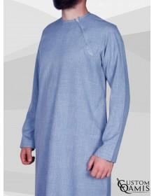 Qamis Imad Imperial bleu ciel