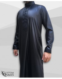 Qamis Sultan Noir satiné