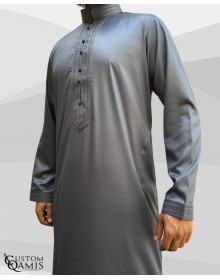 Qamis Sultan Grey Satin