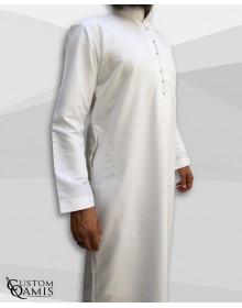 Qamis Sultan Platinium Blanc