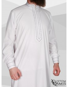 Qamis Sultan Cotton Blanc