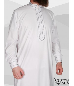 Qamis Sultan Cotton white