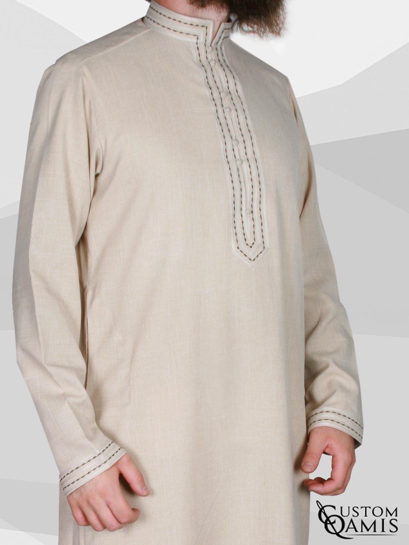 Qamis Sultan Imperial Beige