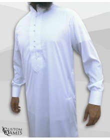 Qamis Sultan White Satin