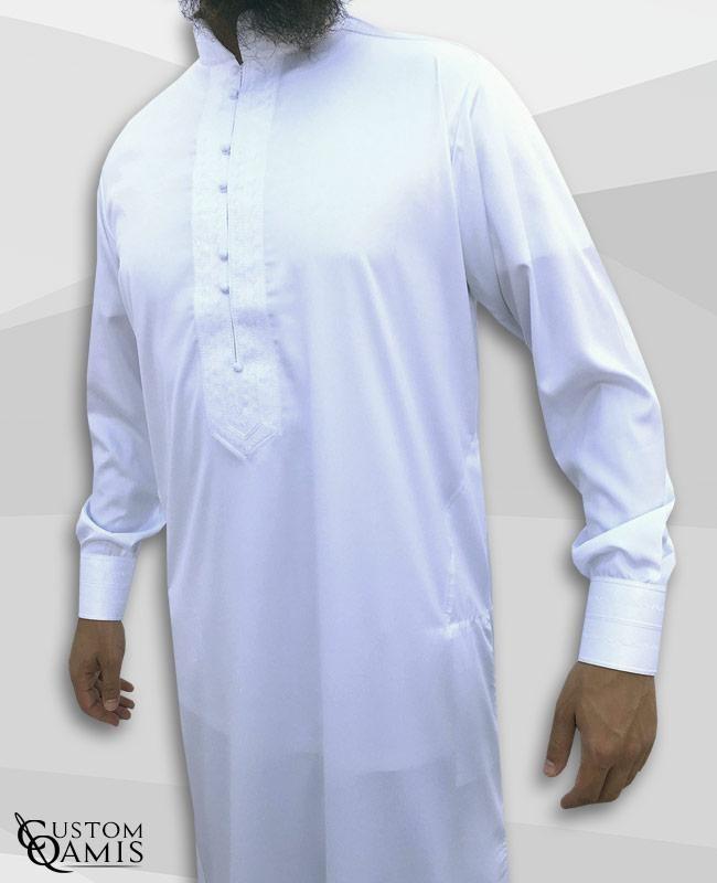 Qamis Sultan Blanc satiné
