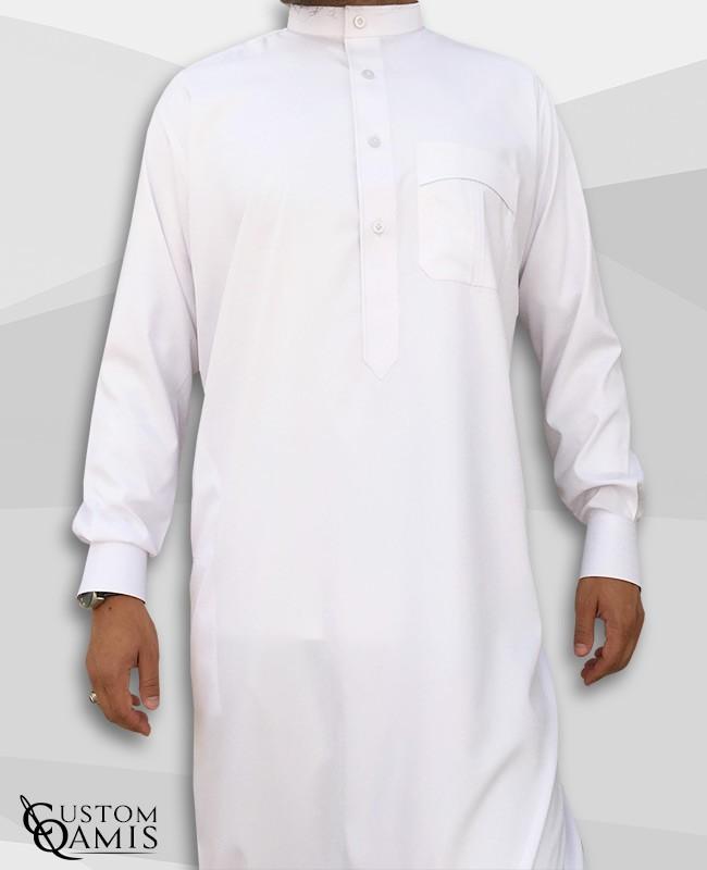 Koweti Thobe White Platinium Fabric