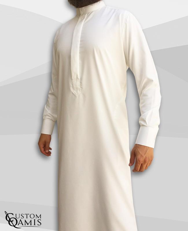 Koweti Thobe Cream Platinium Fabric