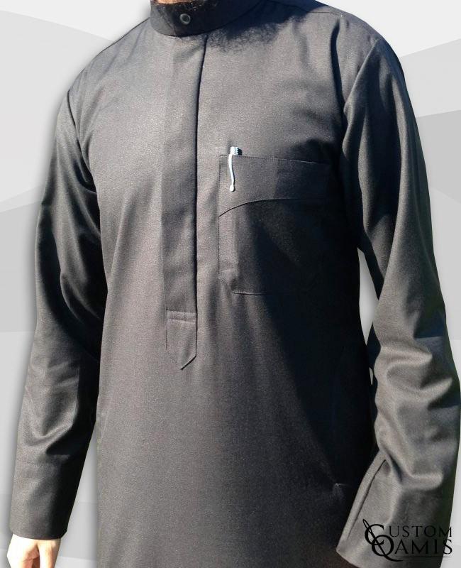 Koweti Thobe Cashmere Wool dark grey