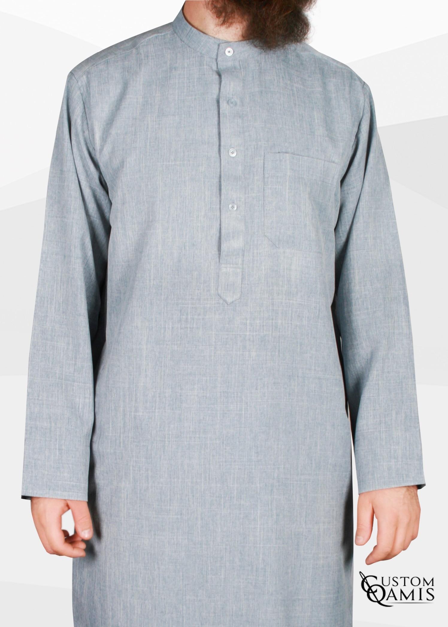 Koweti Thobe light bluish grey Imperial Fabric