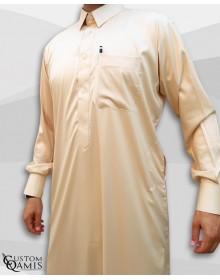 Qamis Qatari Tissu Precious Beige