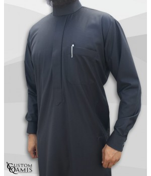 Saudi thobe Cashmere Wool Dark Grey fabric