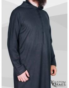 Djalabiya fabric Imperial Charcoal Grey