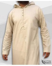 Djalabiya tissu Linen beige