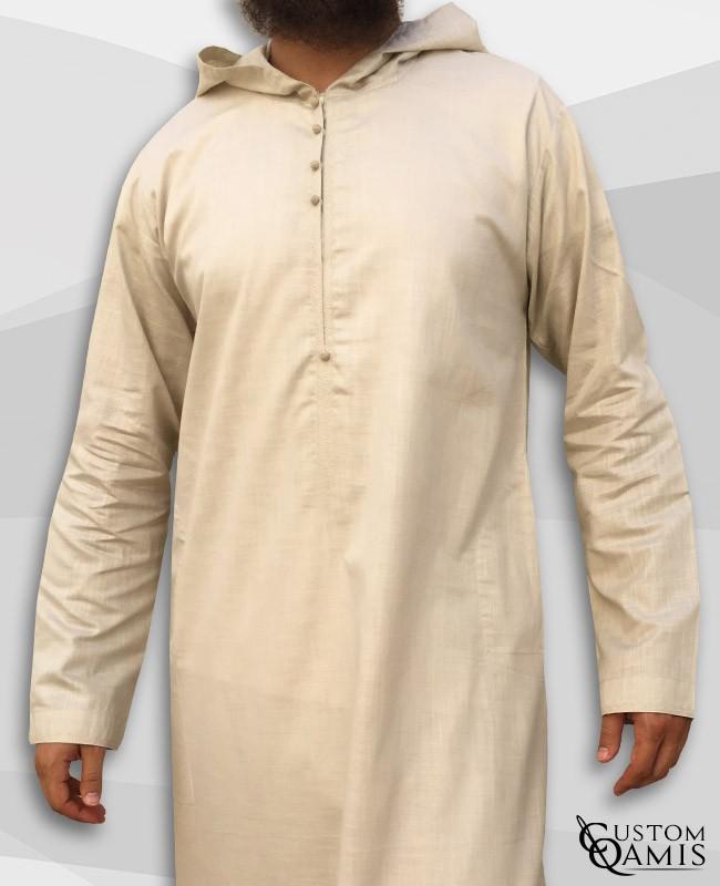 Djalabiya fabric Linen beige