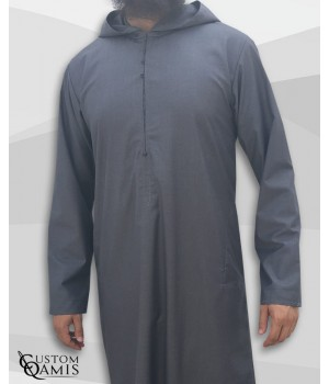 Djalabiya tissu Cashmere Wool gris