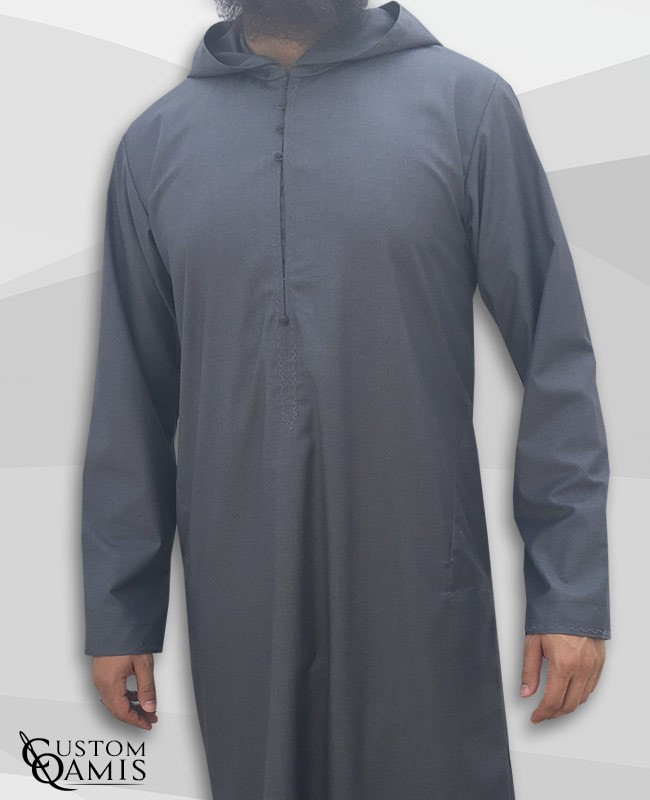 Djalabiya fabric Cashmere Wool Grey