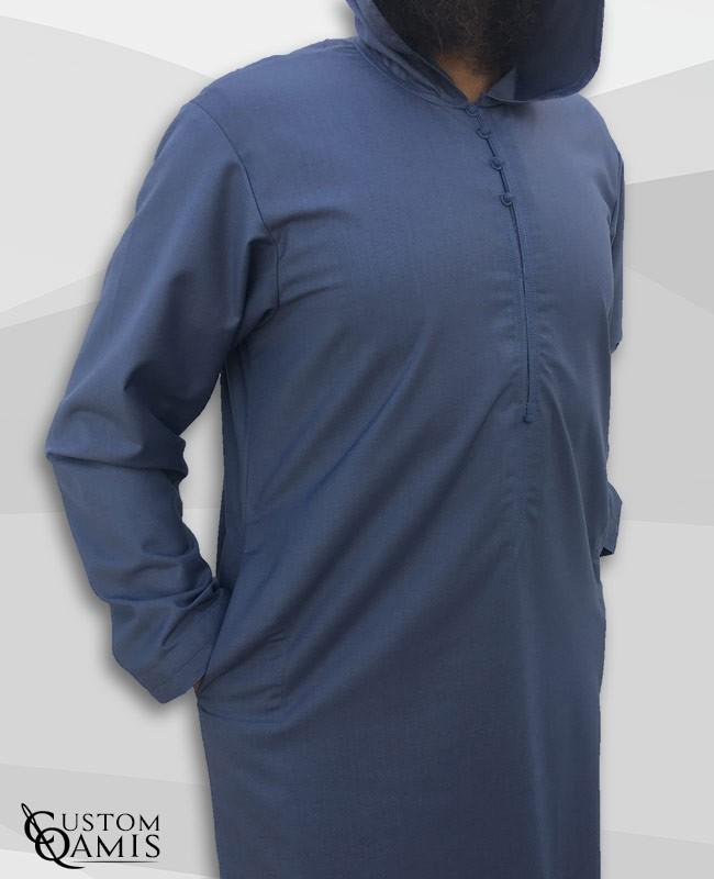 Djalabiya fabric Cashmere Wool buish grey