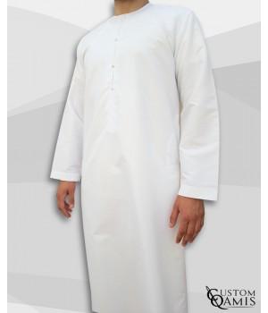 Emirati Thobe fabric Platinium white