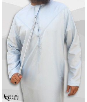 Emirati Thobe fabric Platinium sky blue