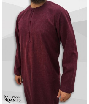 Emirati Thobe fabric Imperial burgundy
