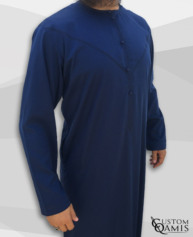 Emirati Thobe fabric Precious navy blue matt