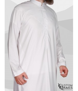 Emirati Thobe fabric Cotton white matt