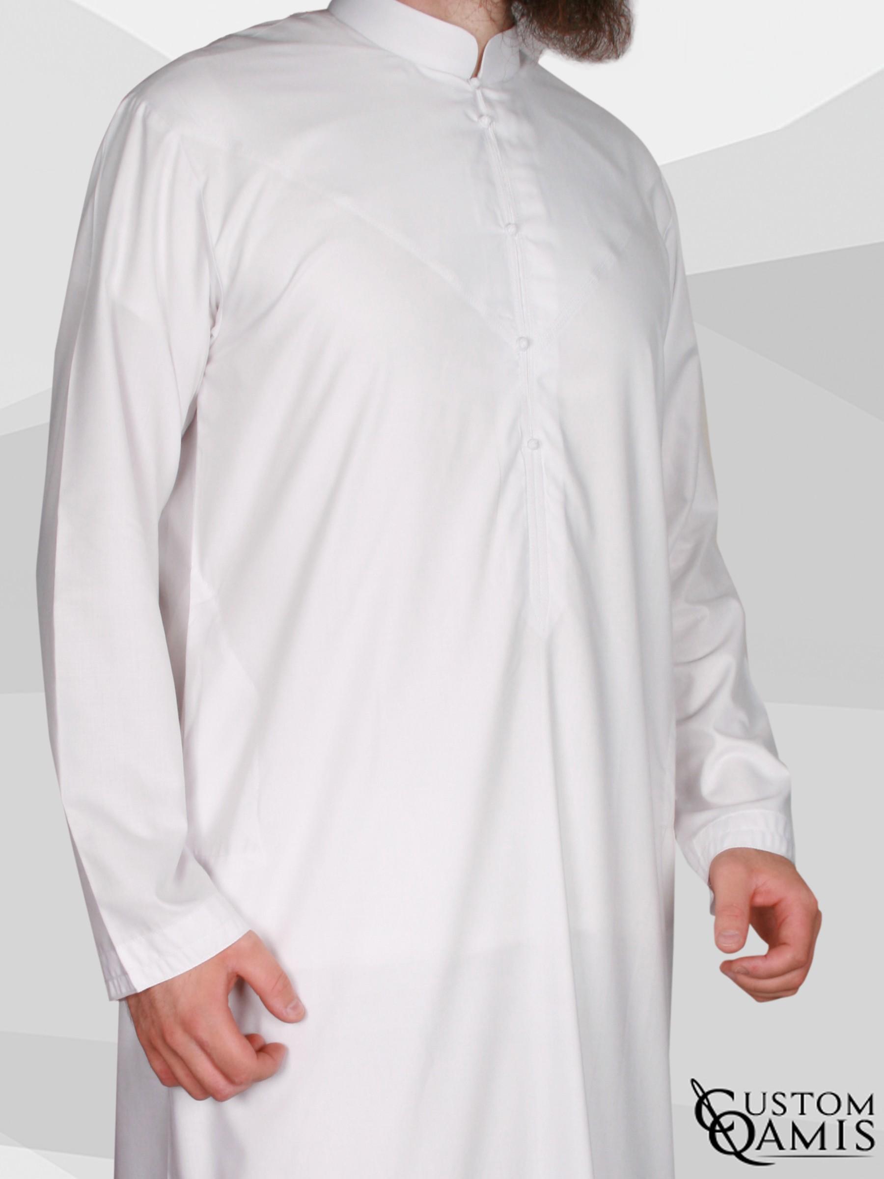 Emirati Thobe fabric Cotton white matt