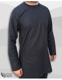 Tunic set Platinium black with sarouel straight cut
