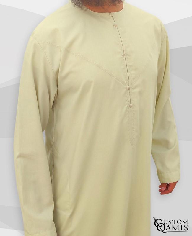 Emirati Thobe fabric Cotton light Beige
