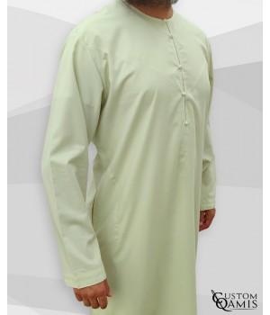 Qamis Emirati tissu Cotton Anis