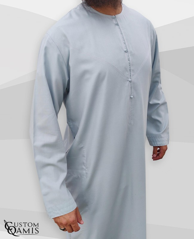 Emirati Thobe fabric Cotton light Grey