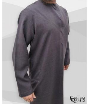 Emirati Thobe fabric Imperial charcoal grey