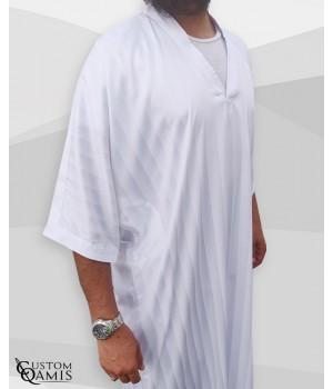 Gandoura Fabric Royal white with strips