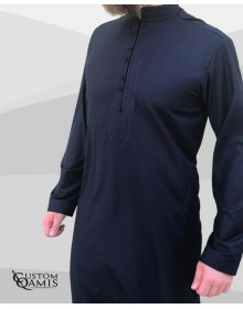 Sultan Thobe Cashmere Wool navy blue
