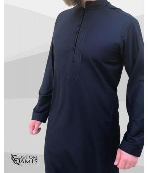 Sultan Thobe Cashmere Wool navy blue